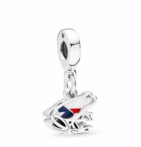 Authentic Pandora 797222ENMX Puerto Rico Frog Dangle Charm Bead