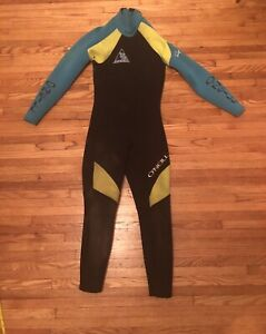 O'Neill Womens Wetsuit Sz M, Black and Teal, Bob Lapoint 9129 Style,Little Dirty