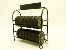 Metal Tire Rack With Wheels 1/18 Scale Models by American Diorama 77518