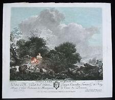 Annete à l'âge de quinze ans D'ap Fragonard gravure de  François GODEFROY