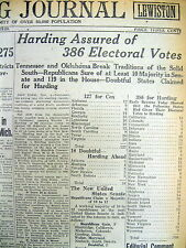 < 3 1920 newspapers REPUBLICAN WARREN HARDING ELECTED PRESIDENT Teapot Dome