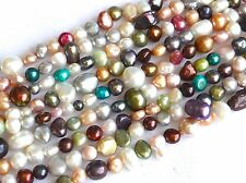 6 to 8 mm Multi Color Freshwater Pearl Nugget Beads, Cultered Pearl Beads (#126)