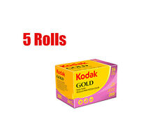 5 Rolls Kodak Gold 200 35mm 135- 36 Color Negative Film Dated 10/2019