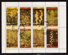 STATE OF OMAN MINI SHEET OF 8 STAMPS, FLOWERS !!