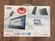 AOC e1659Fwu 16-Inch Ultra Slim 1366x768 Res  USB 3.0 Portable Monitor