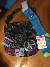 Claire's Peace Purse Bag Socks Earrings Lot Justice Stickers Easter