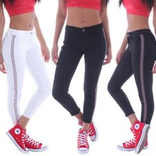 Damen Skinny Jeans Stoffhose röhrenjeans Hose 7/8 Hüfthose Stretch Sommer B0115