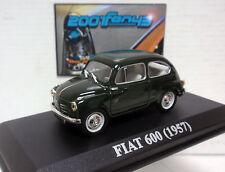 FIAT 600 1957 VERDE OSCURO DARK GREEN 1/43 ALTAYA