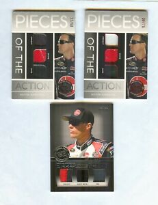 3 CARD KEVIN HARVICK RACE USED LOT