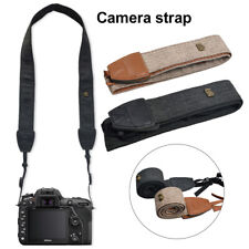 Universal Camera Shoulder Neck Strap Belt For Canon Sony Safety Tether Black New