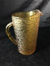 Fire King Soreno Honey Gold Juice Pitcher