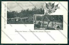 Varese Valcuvia Brenta Cittiglio Militari PIEGHINE cartolina QQ6775