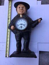 Rare Moving Eye Bradley Hubbard Repro Cast Iron Mantle Clock Great Vintage Shape
