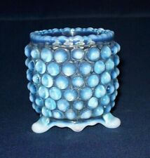 Awesome EAPG Beatty OVERALL HOBNAIL Blue Opalescent Toothpick Holder -1889
