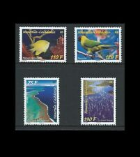 New Caledonia 2014 Parakeet, Fish, Scenery on Set of Four Stamps MNH