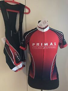 Primal Wear Cycling Kit Bib Shorts & Jersey Prisma & RAGLAN SZ S