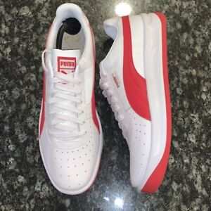 PUMA GV Special White Ribbon Red Mens Sz 11 Casual Leather Tennis Shoes 36661307
