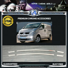 RENAULT TRAFIC CHROME BUMPER TRIMS HIGH QUALITY 5y GUARANTEE 2010-2014 OFFER