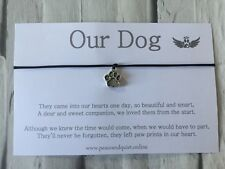 Dog  Passing Wish Bracelet, Charm Bracelet, Gift, Remembrance, Sympathy , #WB