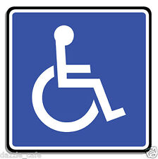 "Handicap / Disabled Parking Only 4.5"" 2-PACK STICKERS Person in Wheelchair 316"