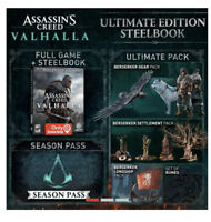 Assassin's Creed Valhalla Steel Book Ultimate Edition PS4 2020 *Presale* New