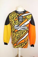 ADIDAS LIVERPOOL FC - Mens 1995/1996 David James Goal Keeper Shirt Size XL