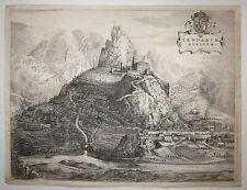 1725 TENDARUM OPPIDUM Tende Roya Theatrum Sabaudiae Rutgert Christophle Alberts