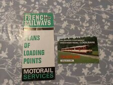 Old FRENCH RAILWAY SNCF LOADING MOTORAIL 1969 & Salzbuger Fahrplan 1985 Trains