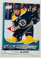 2017-18: UPPER DECK | CHARLIE MCAVOY YOUNG GUNS ROOKIE CARD | RC #242