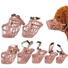 Safe Adjustable Pet Dog No Bite Plastic Basket Muzzle Cage Mouth Pet Mesh Covers
