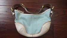 Coach blue bleeker Hobo purse signature C canvas Logo 1455 tote bag