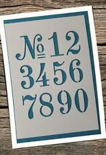 762 Schablonen 1-0 Ziffer Zahlenschablonen Stencil Schriftschablonen Tattoo Text