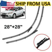 Front Windshield Wiper Blades Set For Ford Focus MK3 11-18 North American Model