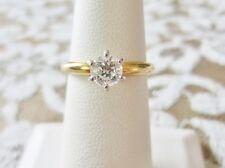 Estate Ladies Ring-18K Platinum Round Brilliant Diamond Solitaire-2.0 DWT SZ6.25