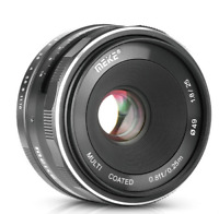 Meike 25mmF/1.8 Prime Lens APS-C for Sony EMount A6000 A6300 A6500 MirrorlessCam