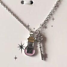 Primark Disney Alice nel paese delle meraviglie collana NUOVA con etichetta VELENO Bottiglia DRINK ME CHIAVE
