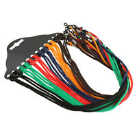 12pcs Colorful Eyewear Nylon Cord Reading Glass Neck Strap Eyeglass Holder