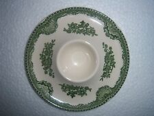 green transferware vintage JOHNSON BROS Old Britain Castles FLAT EGG CUP