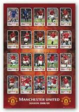 SOCCER POSTER Manchester United Squad Profiles 2009