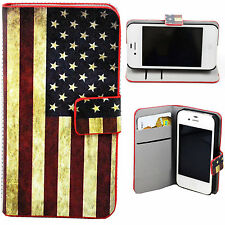 Fashion PU Leather Wallet Flip Cover Case Stand Skin For Apple iPhone 4 4S 4G