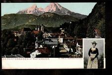 c.1910 local costume Watzmann mountains Berchtesgaden Germany Alps postcard