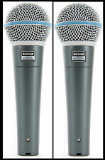 (2) New Shure BETA 58A Vocal Mics Authorised Dealer Make Offer Buy It Now!
