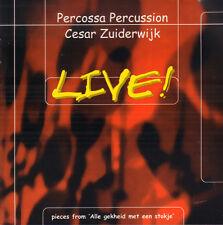 PERCOSSA PERCUSSION / CESAR ZUIDERWIJK (GOLDEN EARRING) – Live ! (RARE 2001 CD)