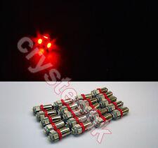 20 PCS BA9S 5 X 5050 SMD LED Red Super Bright Car Side Lights Lamp Bulb DC 12V