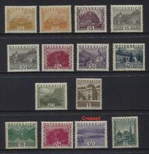 Austria 1929-1930 Pictorials Sc #326-339 Mvlh (Last 4), Mnh (Rest) $380+