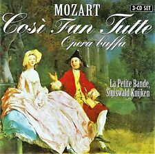 Mozart: COSI FAN TUTTE - La Petite Bande, Sigiswald Kuijken - 3 CD - siehe Abb.
