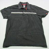 The North Face Men Polo Shirt Short Sleeve XL Gray Black Casual Hiking Camping