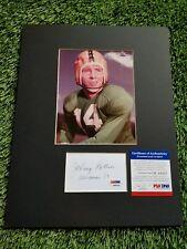 Johnny Lattner Notre Dame Heisman Signed Framed Photo/Index PSA/DNA K80026