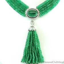 Ivanka Trump Lao Tang Tassel Collection Emerald & Diamond Necklace 18kt Gold