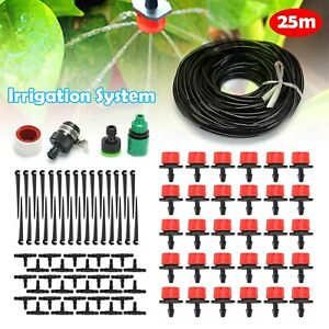 82ft Automatic Drip Irrigation System Kit Plant 25M Self Watering Garden Hose UK